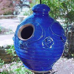 Nesting Jar Stoneware Birdhouse