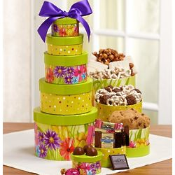 Sweet Spring Greeting Gift Tower