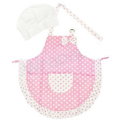 Girls Apron and Hat Set