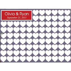 Signature Hearts Personalized Canvas