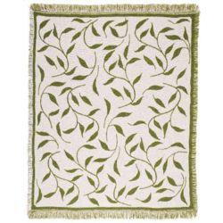 Leafy Vine Throw Blanket