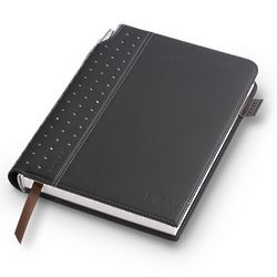 Black Leatherette Journal with Pen