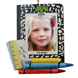 My 1st Day at School Picture Frame Ornament