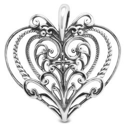 Sterling Silver Heart Pendant Enhancer