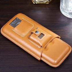 Genoa Leather Travel Cigar Case Gift Set