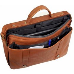 Vaqueta Leather Deluxe Flapover Briefcase