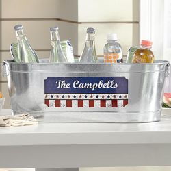 Personalized Stars and Stripes Beverage Tub