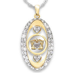 Navy Pride Swarovski Crystal Pendant