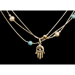 Multi-Strand Hamsa Necklace