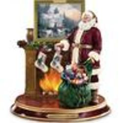 Thomas Kinkade Illuminated Santa Claus Tabletop Figurine