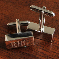 Personalized Rectangle Cufflink Bars