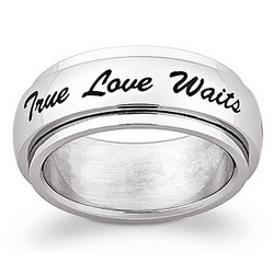 True Love Waits Engraved Ring