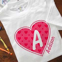 Personalized All My Heart Kid's T-Shirt