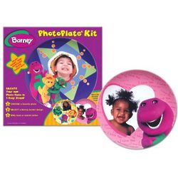 Barney Personalized Photo Plate Kit