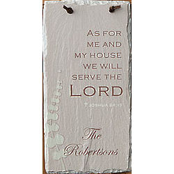 Personalized We Will Serve The Lord Wall Plaque