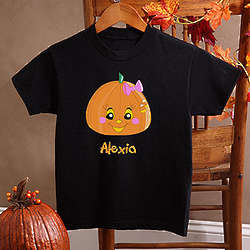 Miss Pumpkin Girl's Black T-Shirt