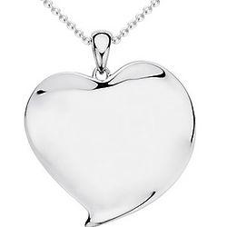Modern Heart Sterling Silver Pendant