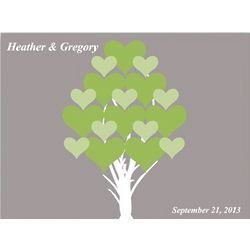 Tree of Hearts Personalized Canvas