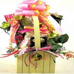 Birdhouse Planter Gift Basket