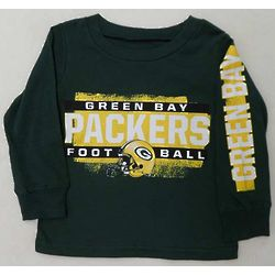 Boy's Packers Football Longsleeve T-Shirt