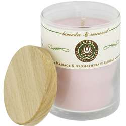Massage and Aromatherapy Lavender & Rosewood Soy Candle