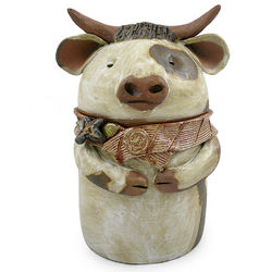 Handmade Cow Cookie Jar