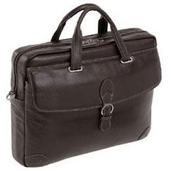 Como Leather Medium Laptop Briefcase