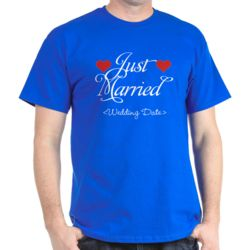 Personalized Wedding Date Just Married T-Shirt