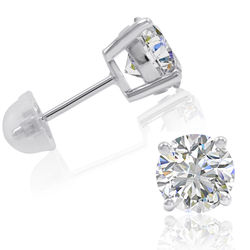 3 Carat Swarovski Zirconia Sterling Silver Stud Earrings