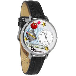English Teacher Watch in Large Silver Case