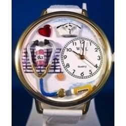 Personalized Nurse Watch in White