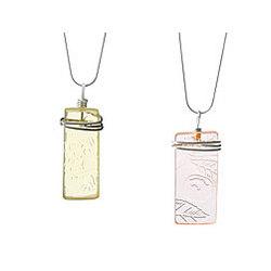 Depression Glass Necklace