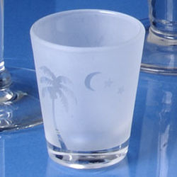 Frosted Palm Shot Glasses
