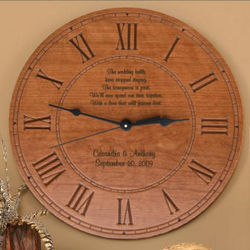 Engraved Wood Clock