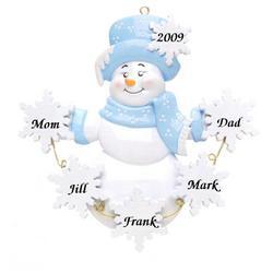 Snowflake Snowlady Christmas Ornament