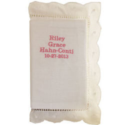 Child's Bible with Monogrammable White Linen Cover