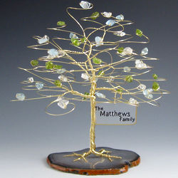 Personalized Family Tree with Birthstone Colors and Sign
