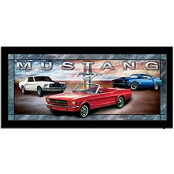 Classic Mustangs Stained Glass Wall Decor