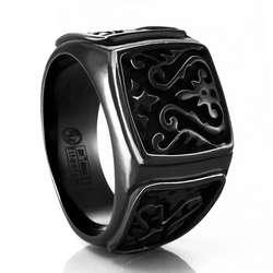 Black Titanium Signet Ring