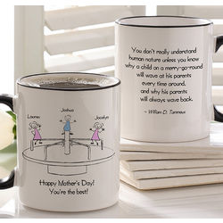 Personalized Merry Go Round Coffee Mug