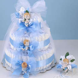 Grande Diaper Cake for Baby Boy