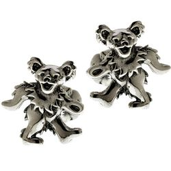 Grateful Dead Dancing Bear Cufflinks in Sterling Silver