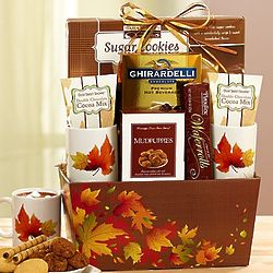 Autumn Leaves Cocoa and Mug Gift Set
