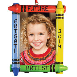 Future Artist Crayons Picture Frame Ornament