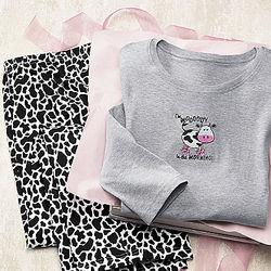 Moooody Morning Blues Women's Plus Size Pajamas