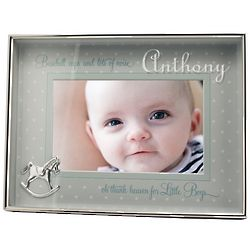 Little Boys Personalized Metal Shadowbox Frame