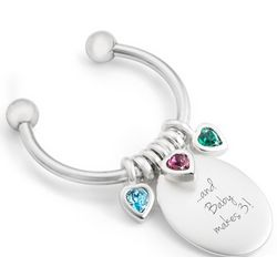 Celebrations Three Stones Key Chain