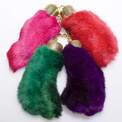 Rabbit Foot Keychain