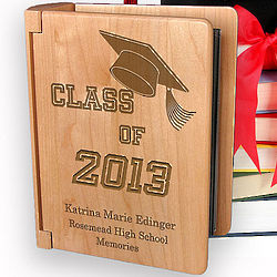 Personalized My Graduation Memories Wooden Photo Album