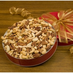 Superior Mixed Nuts in Red Tin